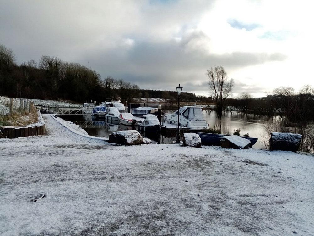 killynick marina fermanagh in winter